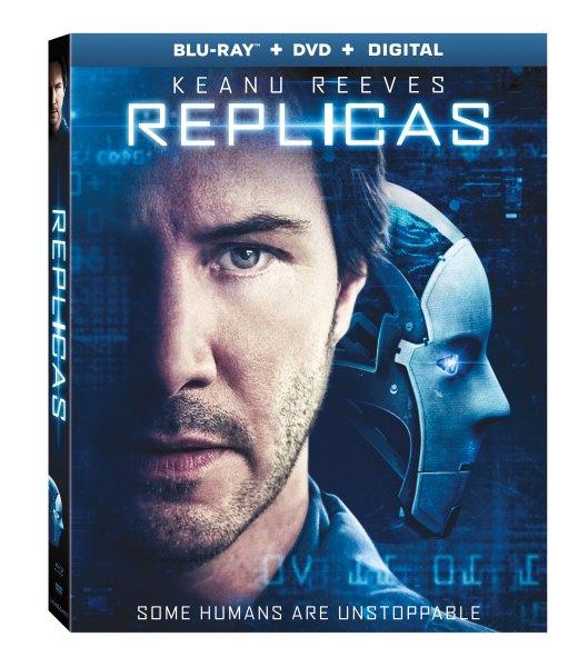 Replicas DVD/Blu-Ray Giveaway Ends 5/16 starring Keanu Reeves