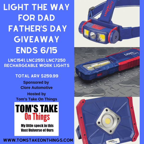 Light the Way for Dad. Father's Day Giveaway Ends 6/15