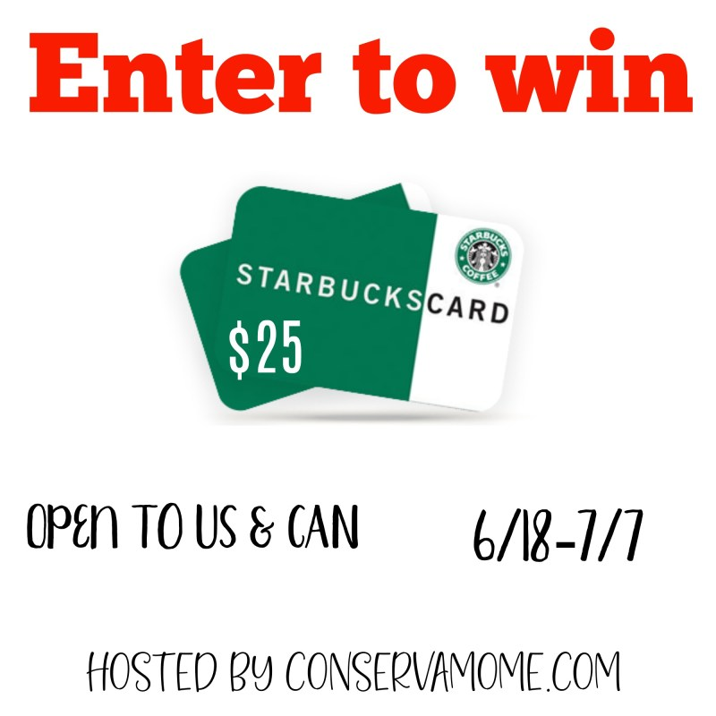 $25 Starbucks Gift Card Giveaway ~ Ends 7/7 Good Luck