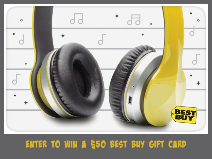 $50 Best Buy Gift Card Giveaway Ends on 9/3 Good Luck!
