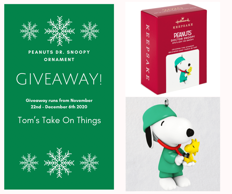 Bring on the Joy - Dr. Snoopy Christmas Ornament Giveaway