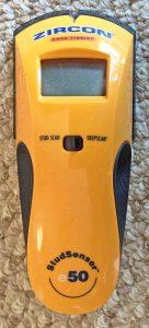 Picture of the Zircon Stud Sensor e50 Stud Finder Detector, front view.