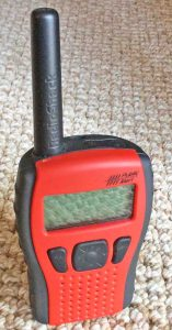 Picture of the Radio Shack Weather Alert Radio 12-522. It shows the front view of this all hazards receiver.