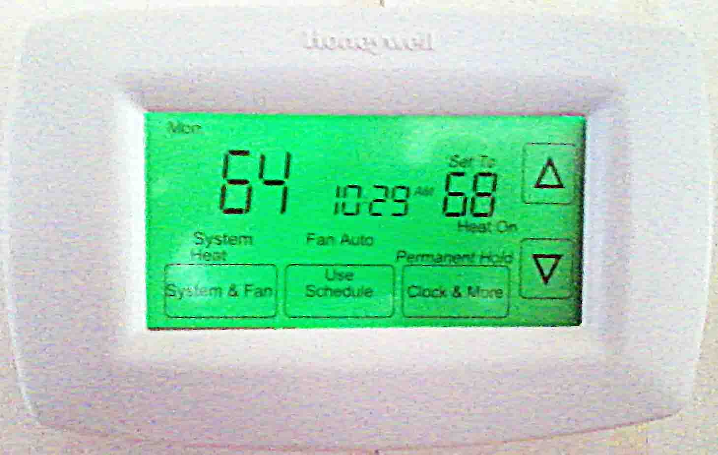 Honeywell Rth7600d 7 Day Programmable Thermostat Review Toms Tek Stop Lyric Rch9310wf5003 Consumer Reports Picture Of An Installed And Operating By