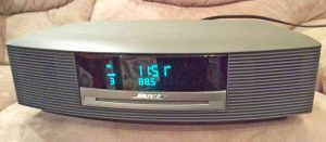 Picture of the front view of the first generation version of the Bose Wave Music System. Bose radio CD player.