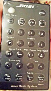 Picture of the Remote Control of the Bose Wave Music System, Original Version.