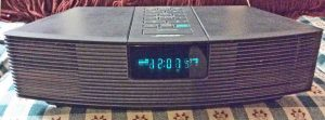 Picture of the Bose Wave Radio, Front View.