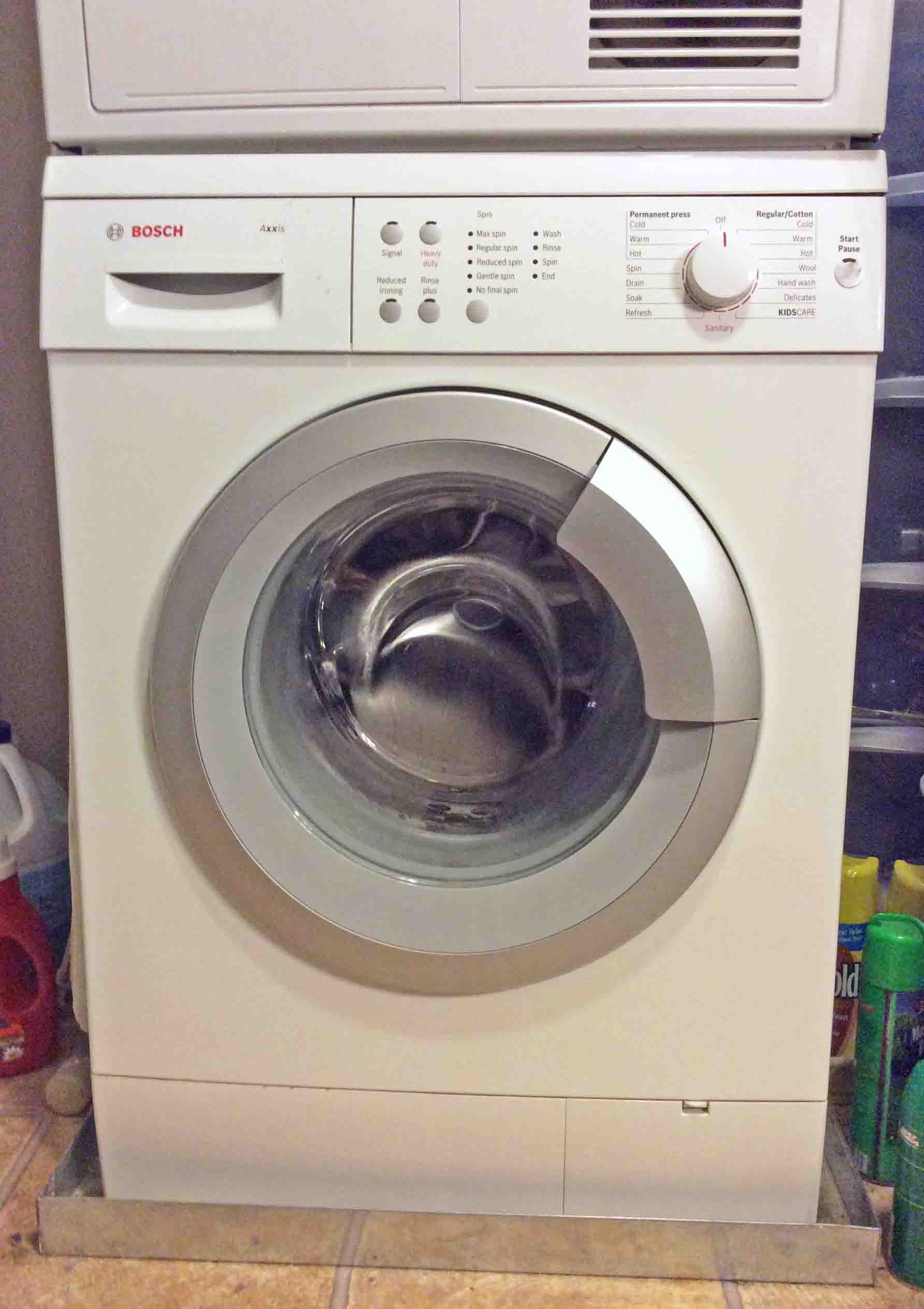 Picture Of A Bosch Front Loader Washing Machine, Apartment Size, Front Load  Clothes Washer