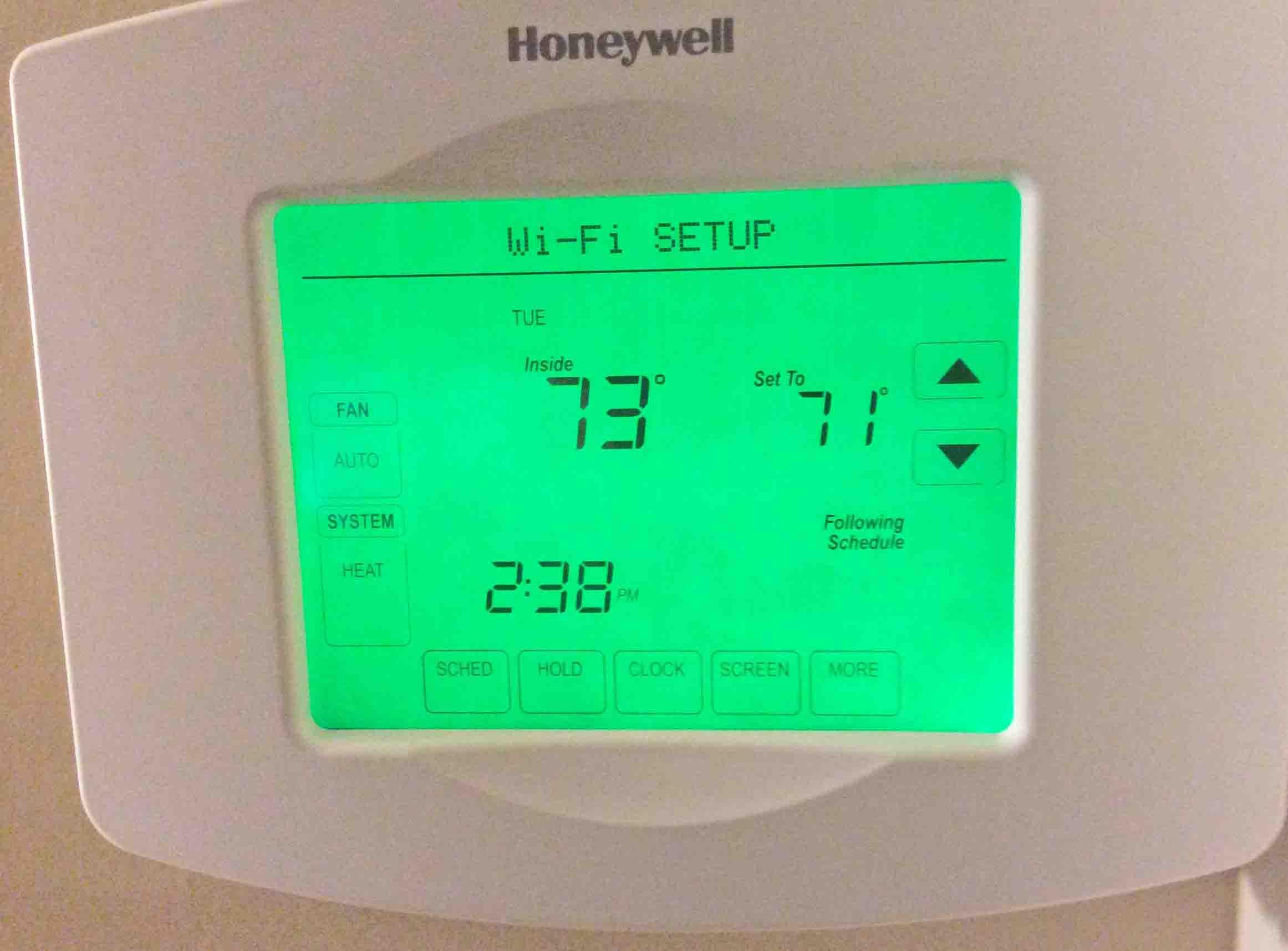 Change Wireless Network on Honeywell WiFi Thermostat