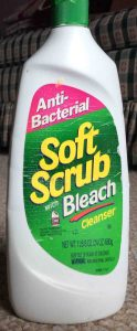 Picture of a 24 ounce bottle of Soft Scrub Cleanser with Bleach.