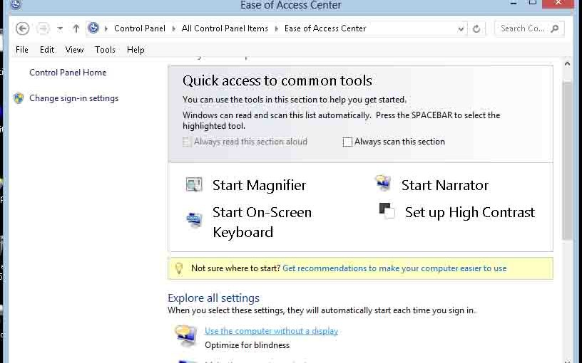 Setting Default Voice in Windows 8 Instructions