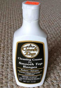 Picture of the front of a 10 ounce bottle of Cooktop Cleaning Cream for smooth top ranges.