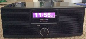 Picture of the Sangean WFR-20 Wi-Fi Internet Radio and Network Music Player, Front View. This internet radio plays both AAC and MP3 streams and media files.