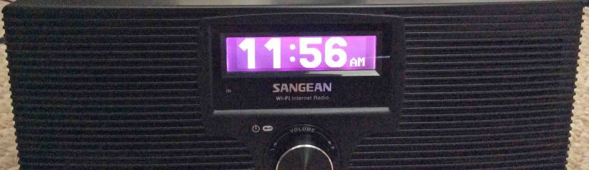 Picture of the Sangean WFR-20 Wi-Fi Internet Radio and Network Music Player, Front View.