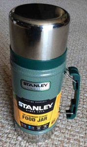 Picture of the 24 ounce Stanley Vacuum Food Jar, Classic Series, fully Assembled.