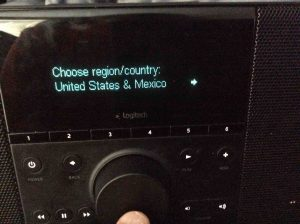 "Picture of the ""Choose Region Country"" screen."