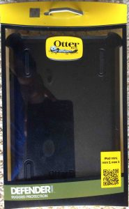 Picture of the original packaging front for the OtterBox Defender iPad Mini Case.