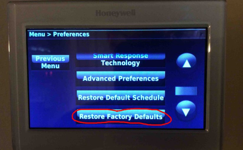 Reset Honeywell Touchscreen Thermostat, How To