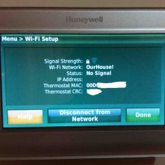 Honeywell Rth9580wf Factory Reset Wiring Diagram Wiper Motor Change Wifi Network On Thermostat