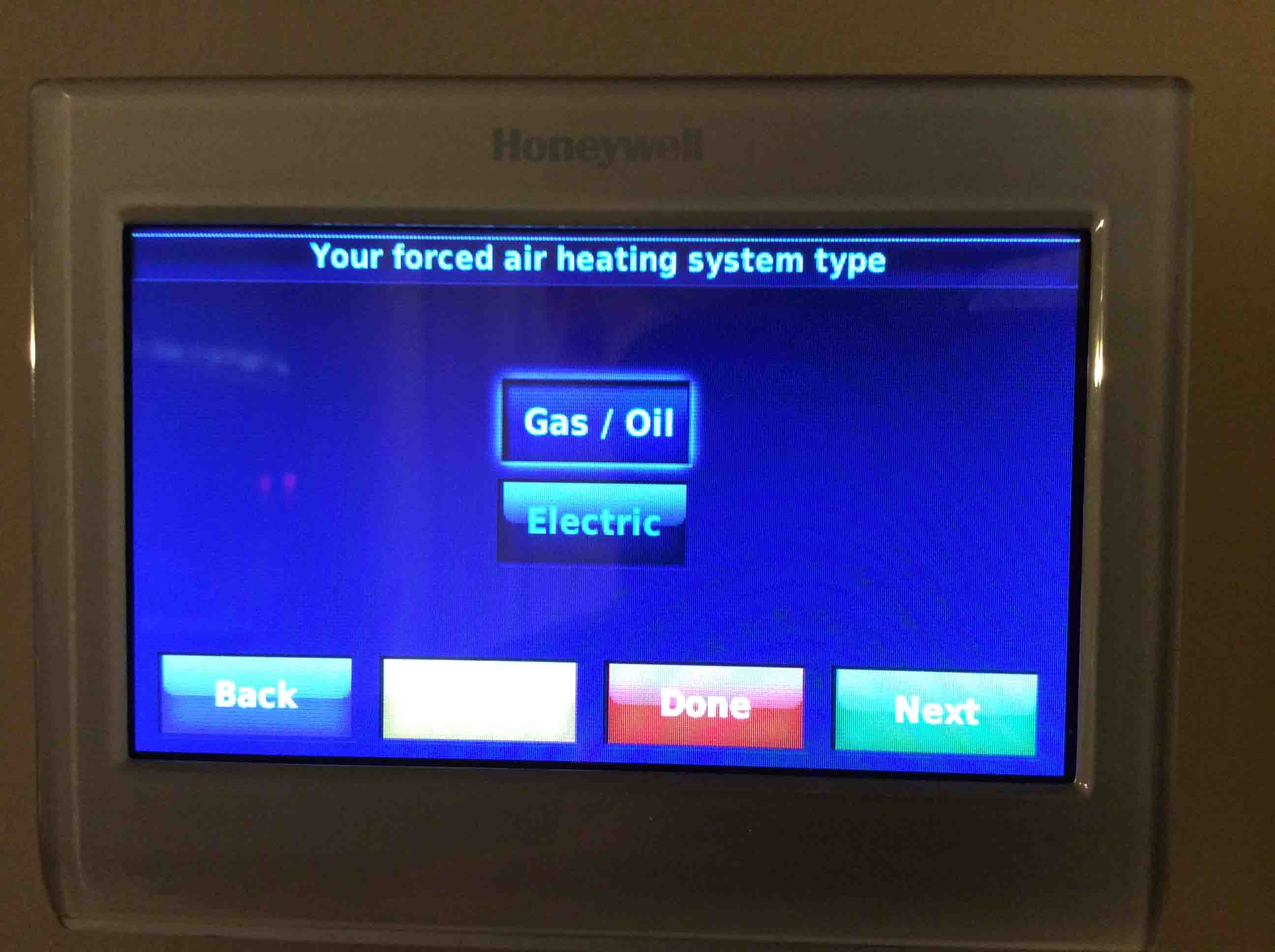 Setting temperature differential honeywell smart for Types of forced air heating systems
