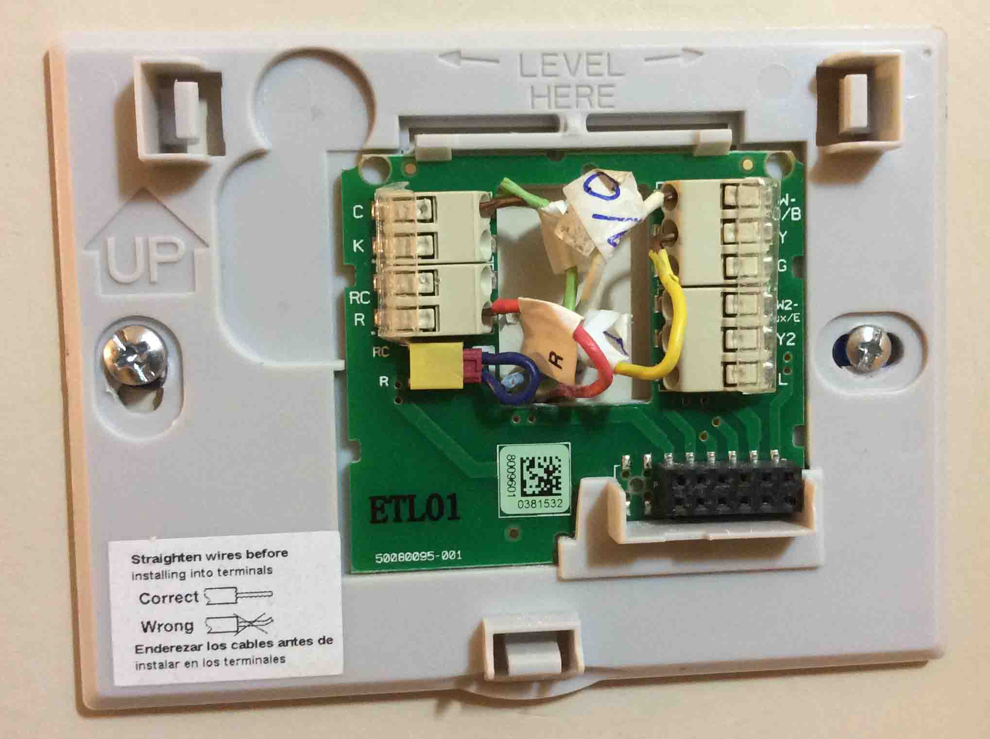 Four Wire Thermostat Simple Wiring Diagram Page Basic House 4 Color Code Toms Tek Stop Home