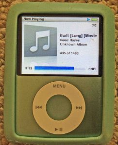 iPod Nano 3rd Generation reset. Picture of the iPod Nano 3rd Gen portable player, playing file normally, after reset.