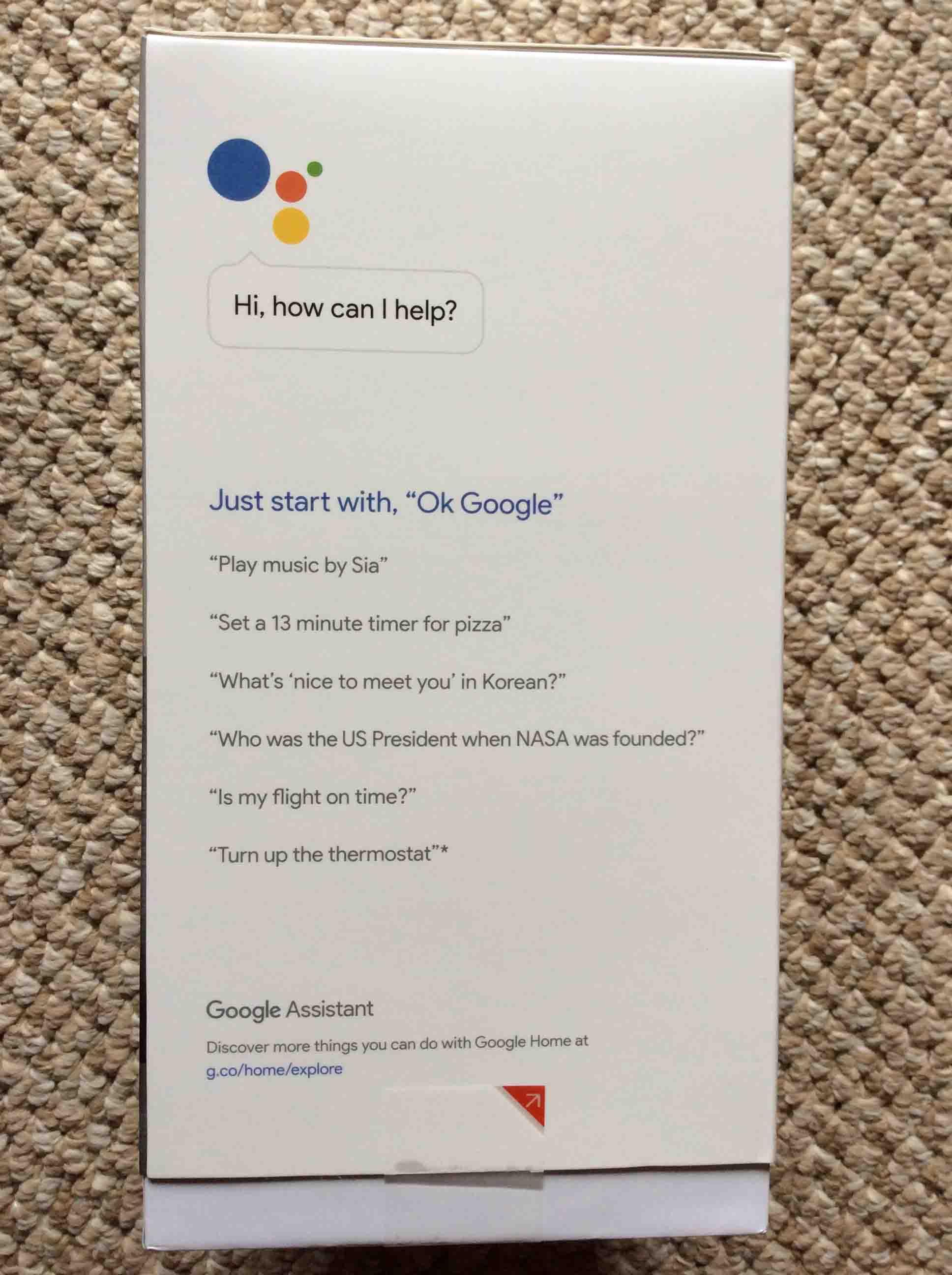 Google Voice Commands >> Unboxing Original Google Home Voice Activated Speaker   Tom's Tek Stop