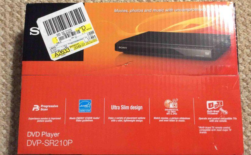 Unpacking the Sony CD DVD Player DVP-SR210P