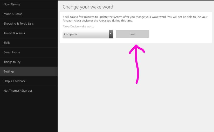 Change Echo Dot Wake Word, How To