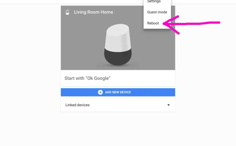Reboot Google Home Speaker Instructions