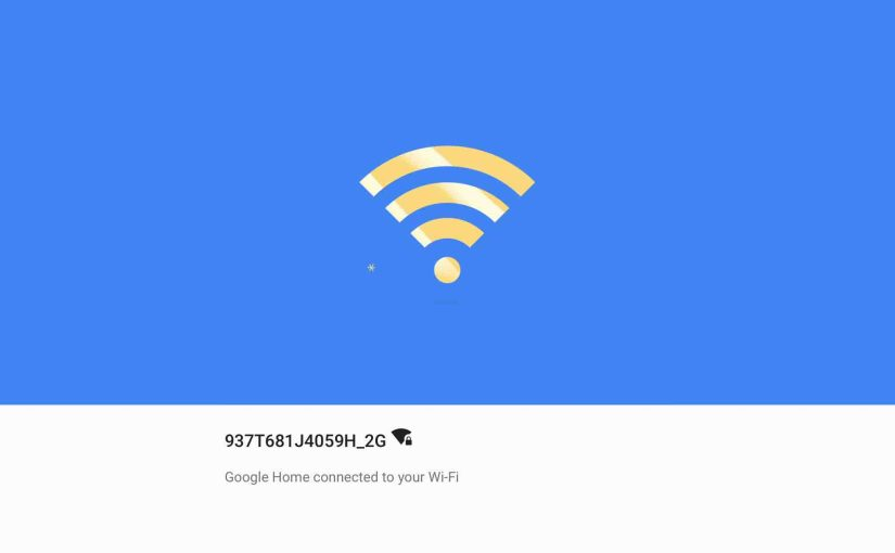 Changing Wi-Fi Network on Google Home Smart Speaker