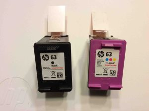Picture of the HP DeskJet 3630 ink cartridge set for HP 3630 printer, unbagged.
