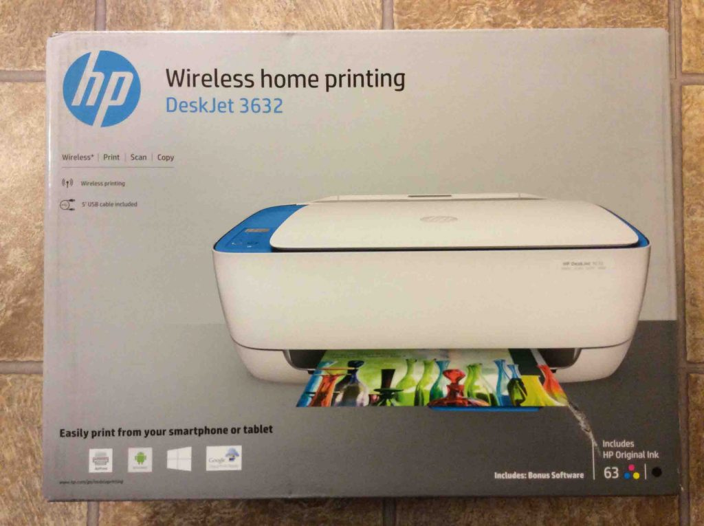 Unboxing HP DeskJet 3632 Printer How To  Toms Tek Stop