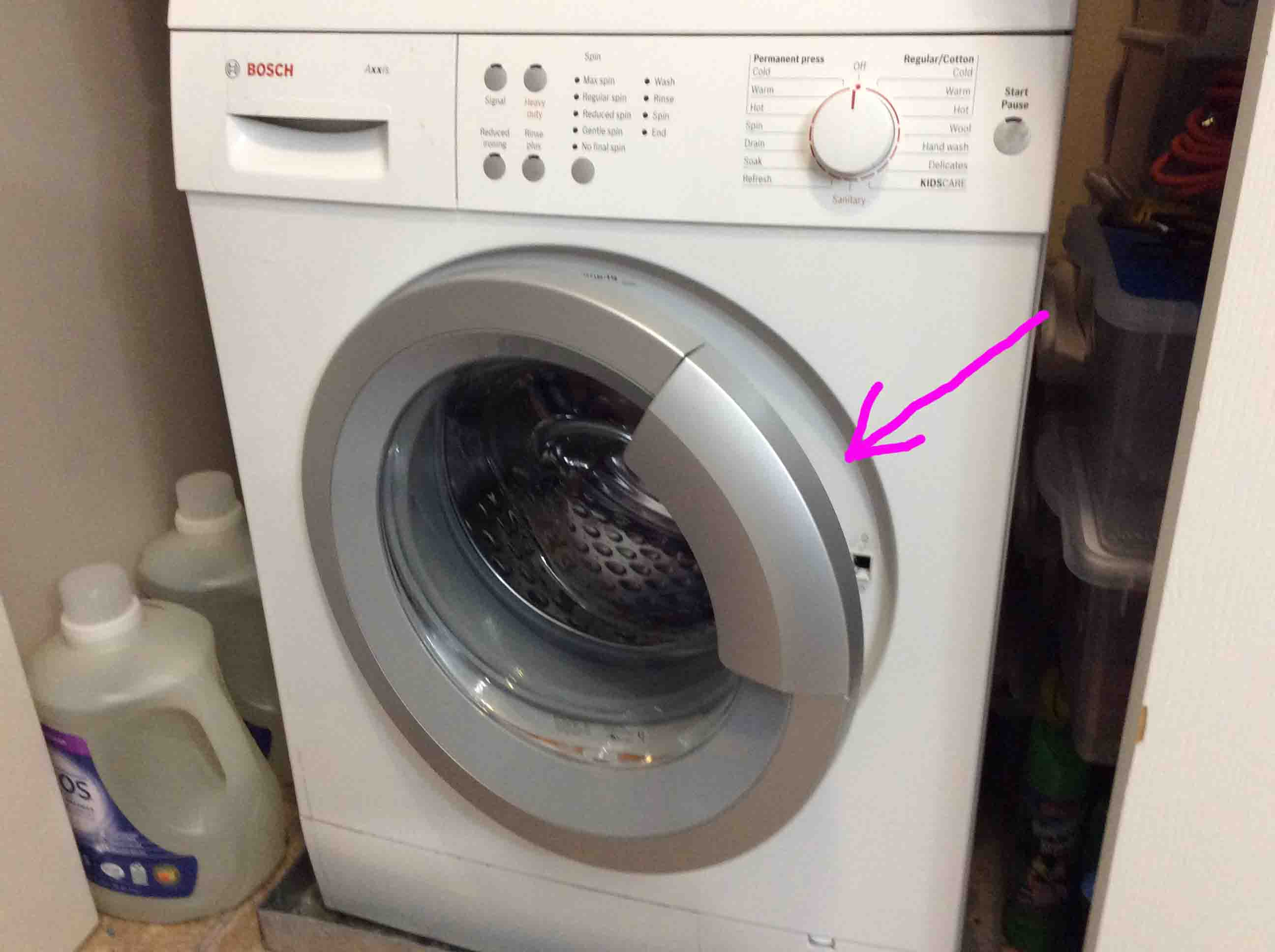 how to remove water from washer machine