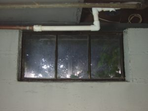 Picture of the old basement window 4 to be replaced.