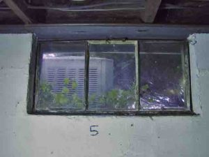 How to install glass block windows. Picture of old basement window 5 to be replaced.