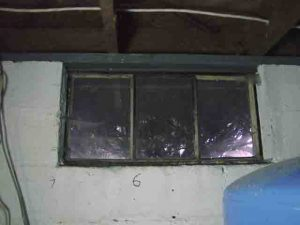 How to install glass block windows. Picture of decades old, rusted basement window 6 to be replaced.