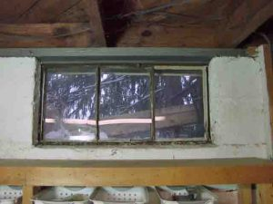 Picture of old basement window 8, to be replaced.
