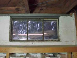 How to install glass block windows. Picture of old basement window 8, to be replaced.