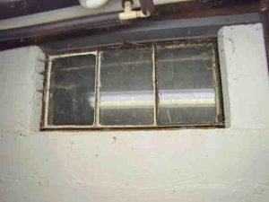How to install glass block windows. Picture of the old basement window 9, to be replaced.