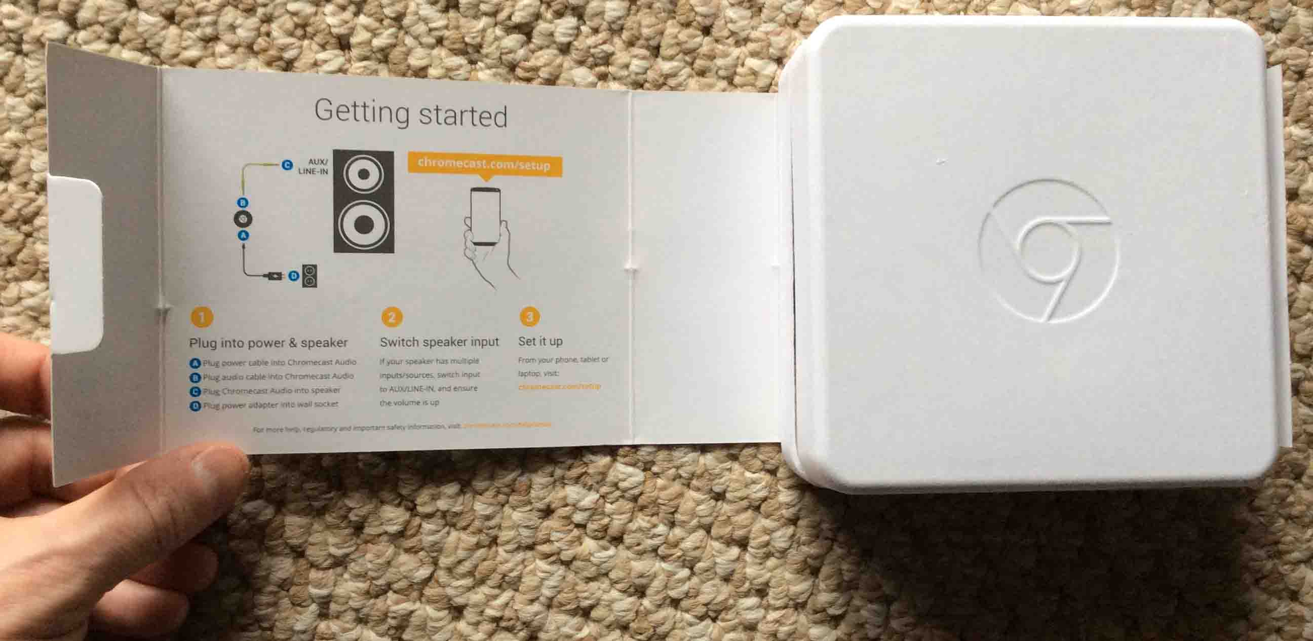 Unboxing And Connecting Google Chromecast Audio Receiver Toms Tek