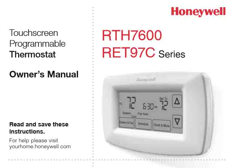 Honeywell Programmable Thermostat RTH7600D Manual | Tom\'s Tek Stop