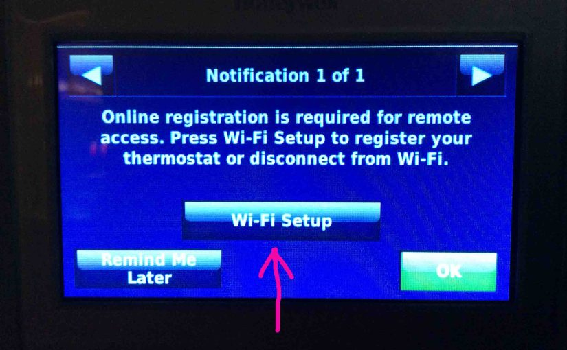 Reconnecting Honeywell Thermostat RTH9580WF to WiFi Network, How To Instructions