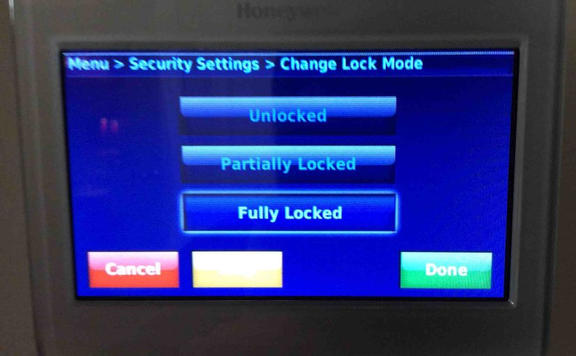 Honeywell Thermostat Screen Locked, How to Turn Off