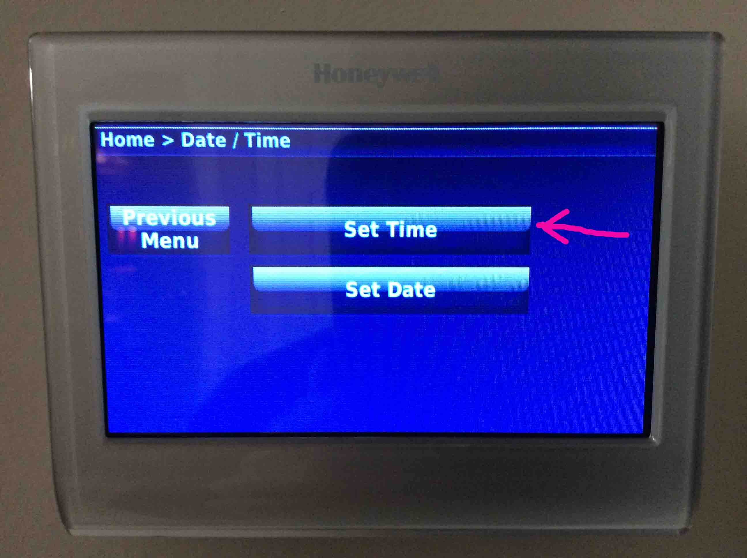 Change Time and Day on Honeywell RTH9580WF Thermostat, How