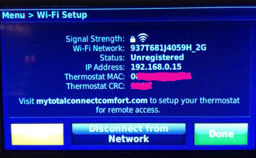 How to Find Honeywell RTH9580WF Thermostat IP Address, MAC ID, CRC