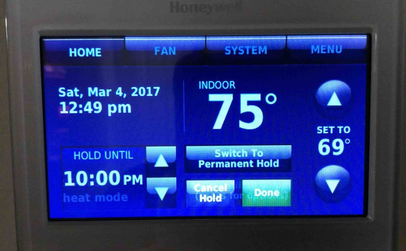 How to Set Honeywell Thermostat Temperature RTH9580WF