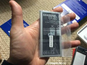 TracFone Samsung Galaxy J7 Sky Pro picture gallery. Picture of the battery for the Samsung Galaxy J7 Sky Pro Smart Phone, showing label side.