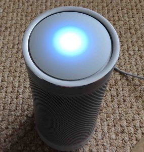 Picture of the Microsoft Invoke Cortana speaker light pattern, as displayed when the speaker is talking.