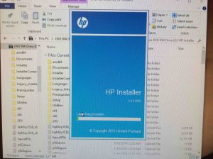 Picture of the HP Color Laserjet Pro MFP M477 driver installer loading.